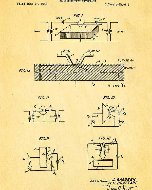 Bardeen Transistor Drawing Patent