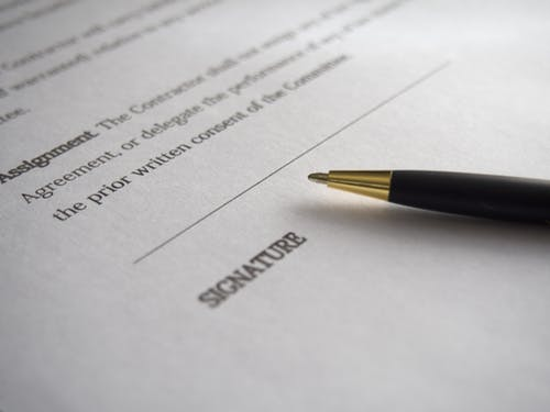 Patent Application Contract Signature